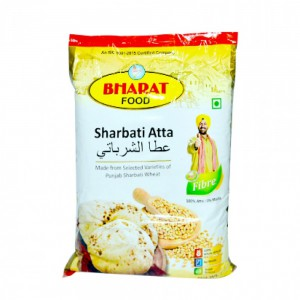 Bharat Punjab Sharbati Atta - High Fibre (100% Whole Wheat Atta / 0% Maida)