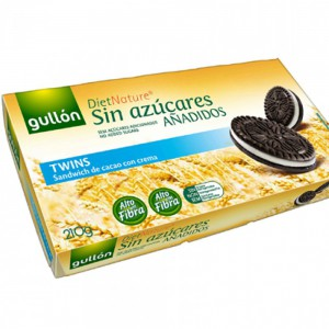 Gullon Sugar Free Diet Nature Sandwich De Cacao Con Crème