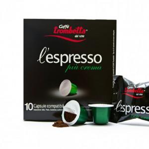 Trombetta Caffe L'espresso Piu Cream Capsule