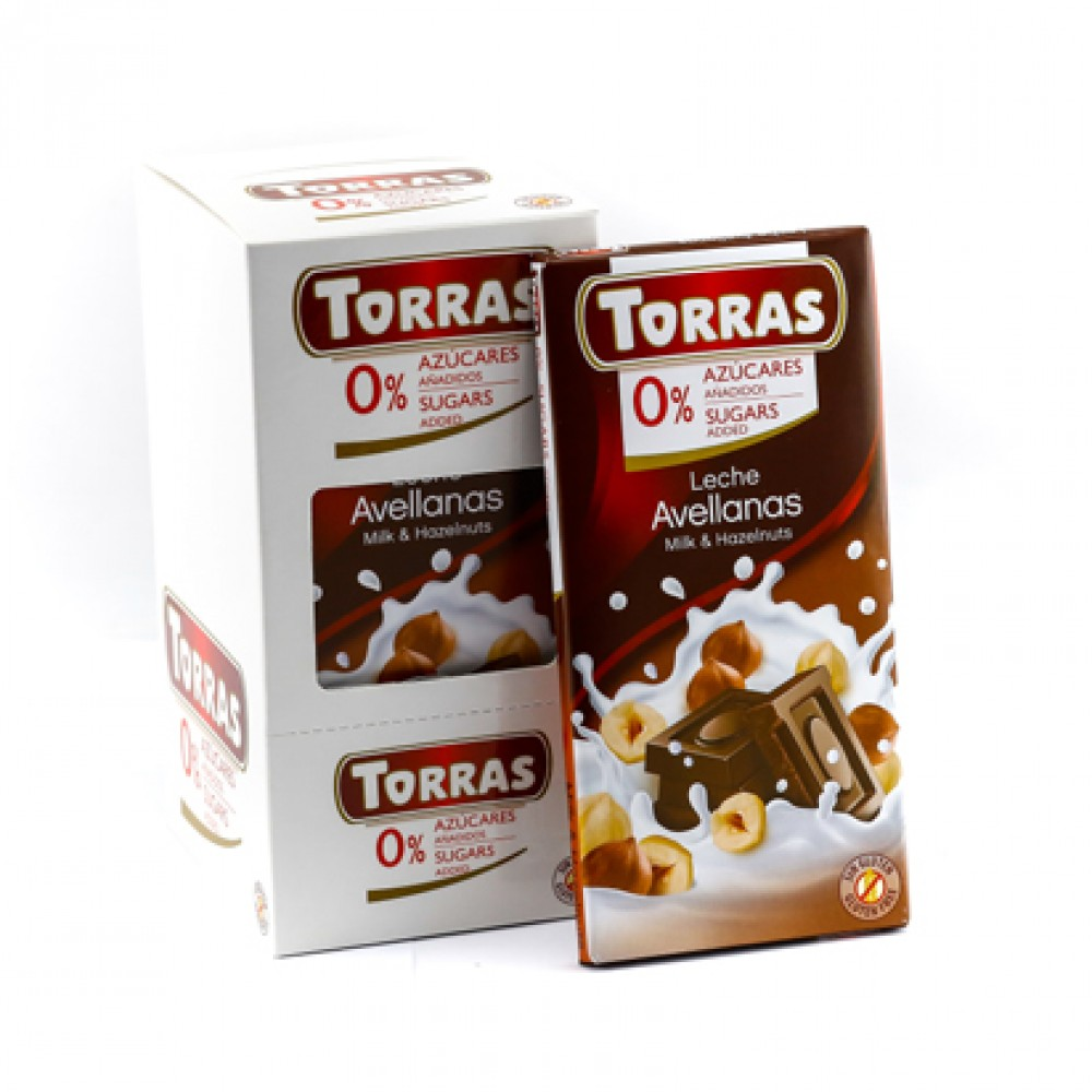 Torras Sugar Free Milk Chocolate With Hazelnut Tablet
