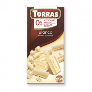 Torras Sugar Free White Chocolate Tablet