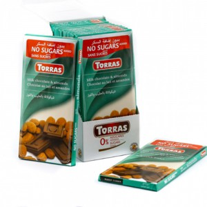 Torras Sugar Free Milk & Almond Chocolate Tablet