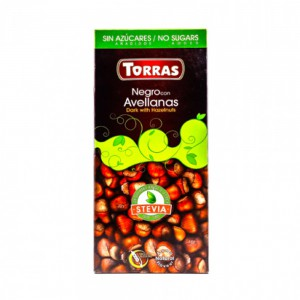 Torras Sugar Free Dark And Hazelnut Chocolate Tablet