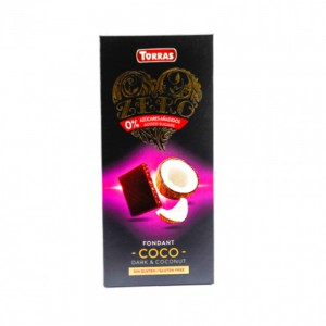 Torras Sugar Free Zero Dark & Coconut Chocolate