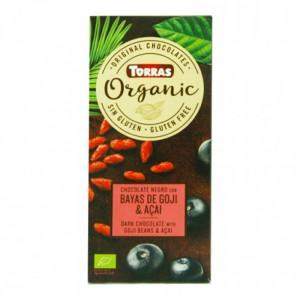 Torras Organic Dark Chocolate With Goji Beans And Acai