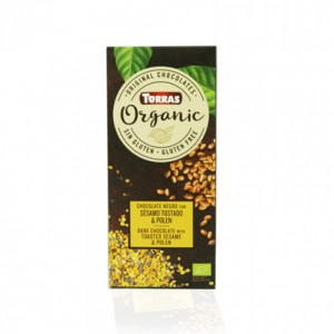 Torras Organic Dark Chocolate With Toasted Sesame And Polen