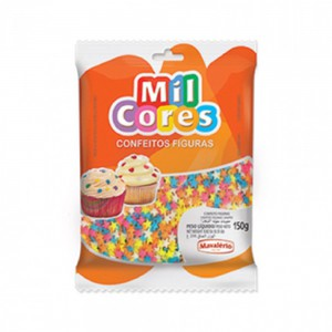 Mavalerio Mil Cores Star Shaped Sprinkles