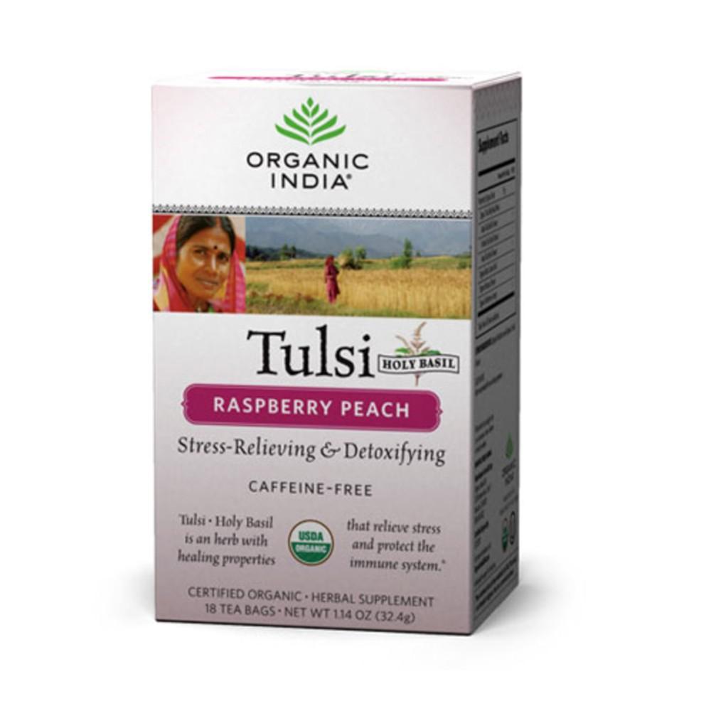 Organic India Tulsi Raspberry Peach - Tea Bags