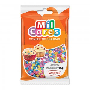 Mavalerio Mil Cores, Gluten Free, Sprinkles, Bakery Cake and Cupcake Decorating