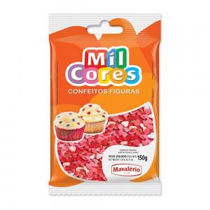 Mavalerio Mil Cores, Gluten Free Confectionery Heart Shape, Bakery cake & Ice Cream decoration
