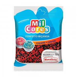Mavalerio Mil Cores Black And Red Non Pareils