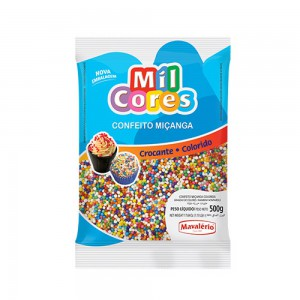 Mavalerio Mil Cores, Gluten Free, Rainbow Nonpareils Food Decorative, Bakery cake ice cream decorating