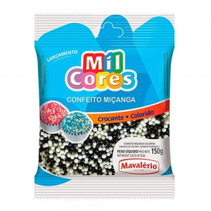 Mavalerio Mil Cores, Gluten Free, White and Black Nonpareils Sprinkles, Bakery Cake and Cupcake Decorating