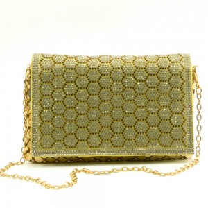 Apples Crystal Stoned Chain Strap bag - B8096