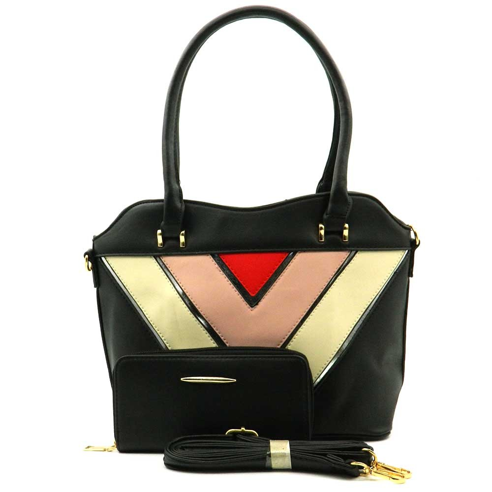 Apples Multicolour Shopper bag with Pouch- WL1018