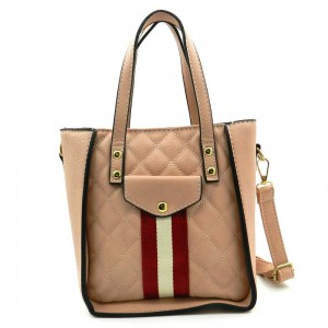 Apples Stitched Soft PU Top Handle Tote Bag - HX105