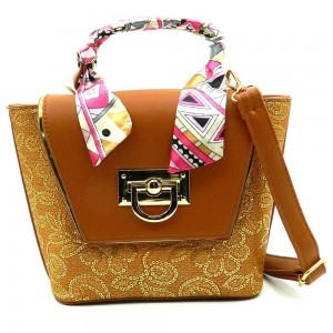 Apples Bucket Shape Top Handle Mini Bag - HA6224
