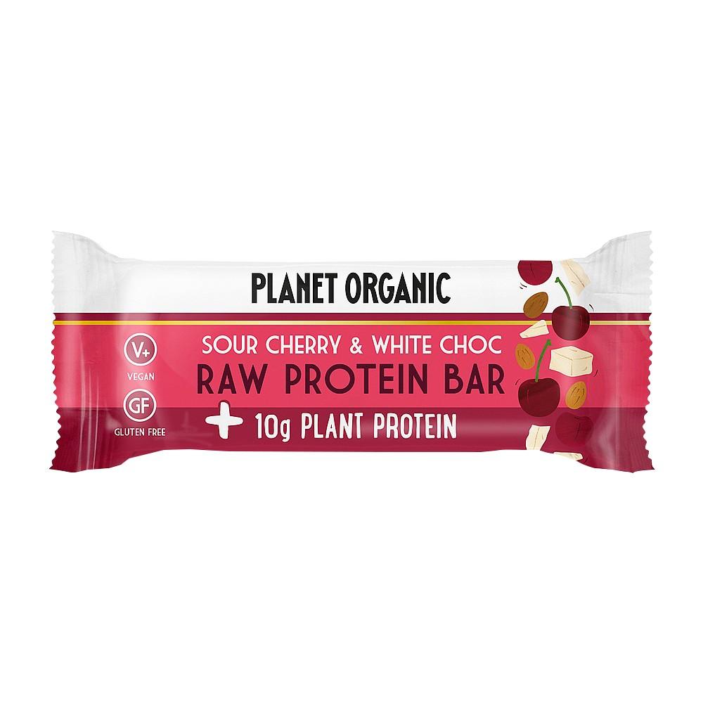 Planet-organic Raw Protein Bar White Choc Chip & Sour Cherry