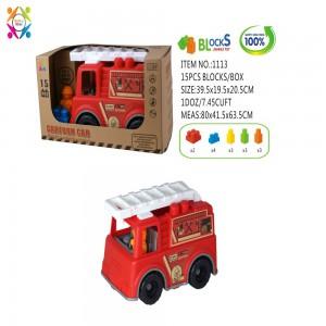Eco Friendly Fire Engine 2 Bricks Vehicle