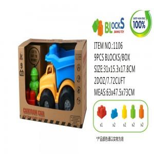 Eco Friendly Cartoon Car Bricks Vehicle