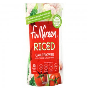 Full Green Cauli Rice Flavoured With Tomato, Garlic And Herbs