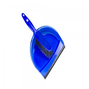 Mery Dust Pan with Rubber Brush Multicolor