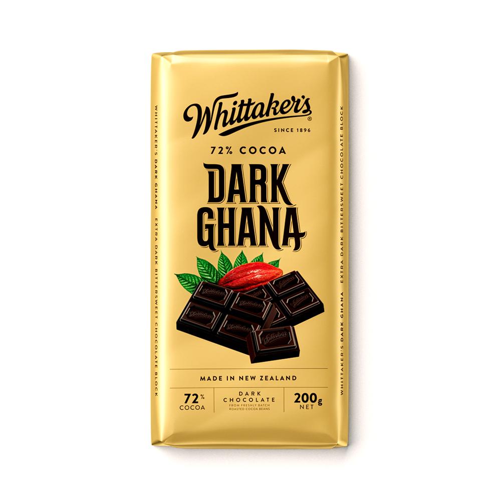 Whittakers 72% Dark Ghana Bar