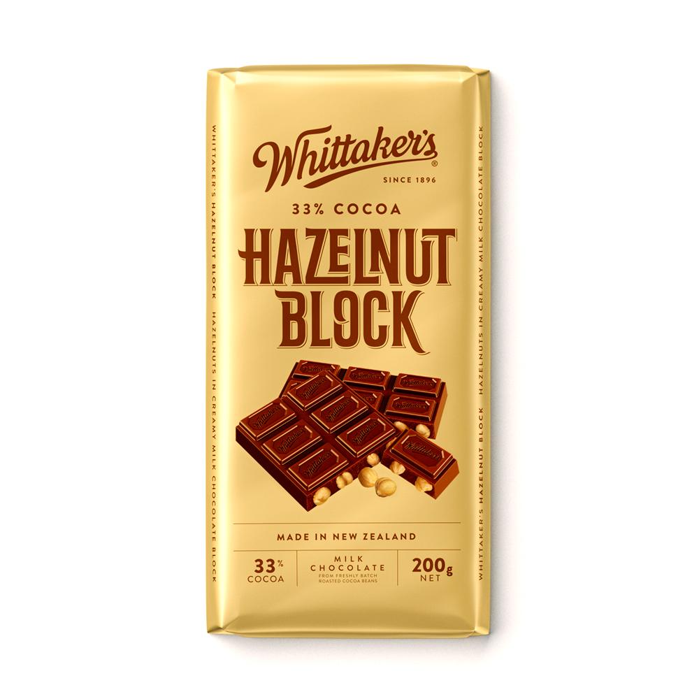 Whittakers Hazelnut Bar