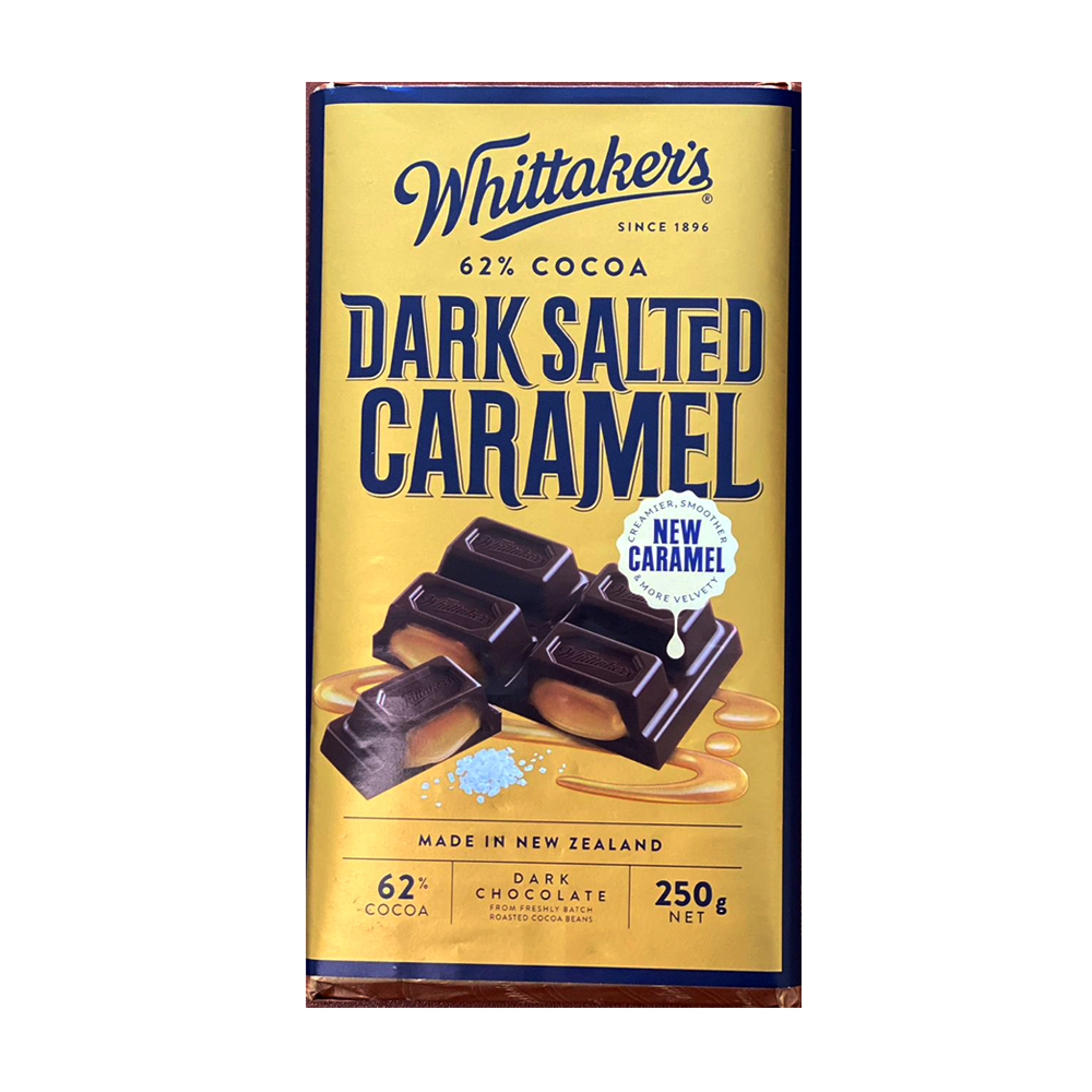 Whittakers 62% Cocoa Dark Salted Caramel