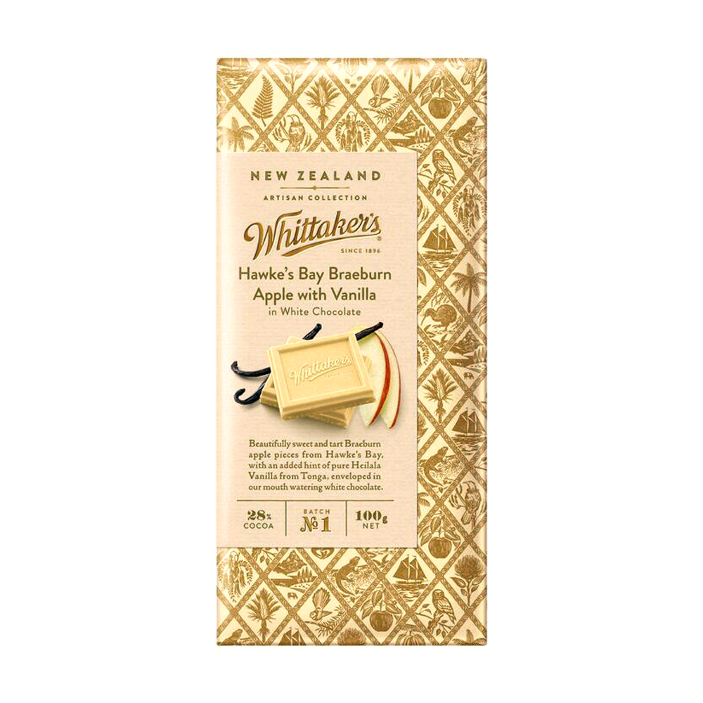 Whittakers Hawke'S Bay Braeburn Apple W/ Vanilla Block