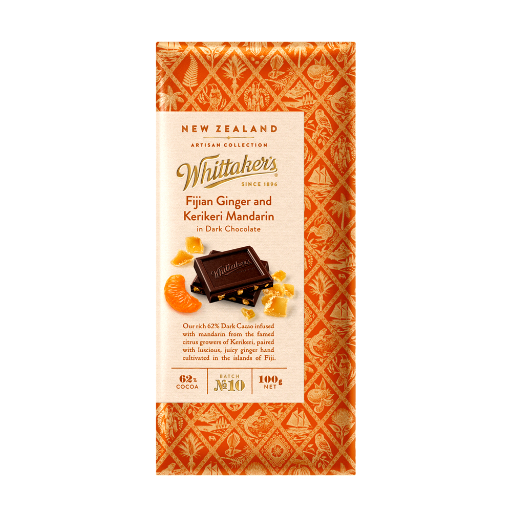Whittakers Fijian Ginger & Kerikeri Mandarin