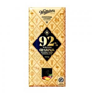 Whittakers 92% Cocoa Ghana Intense Dark Choco
