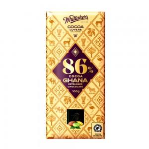 Whittakers 86% Cocoa Ghana Extra Dark Choco