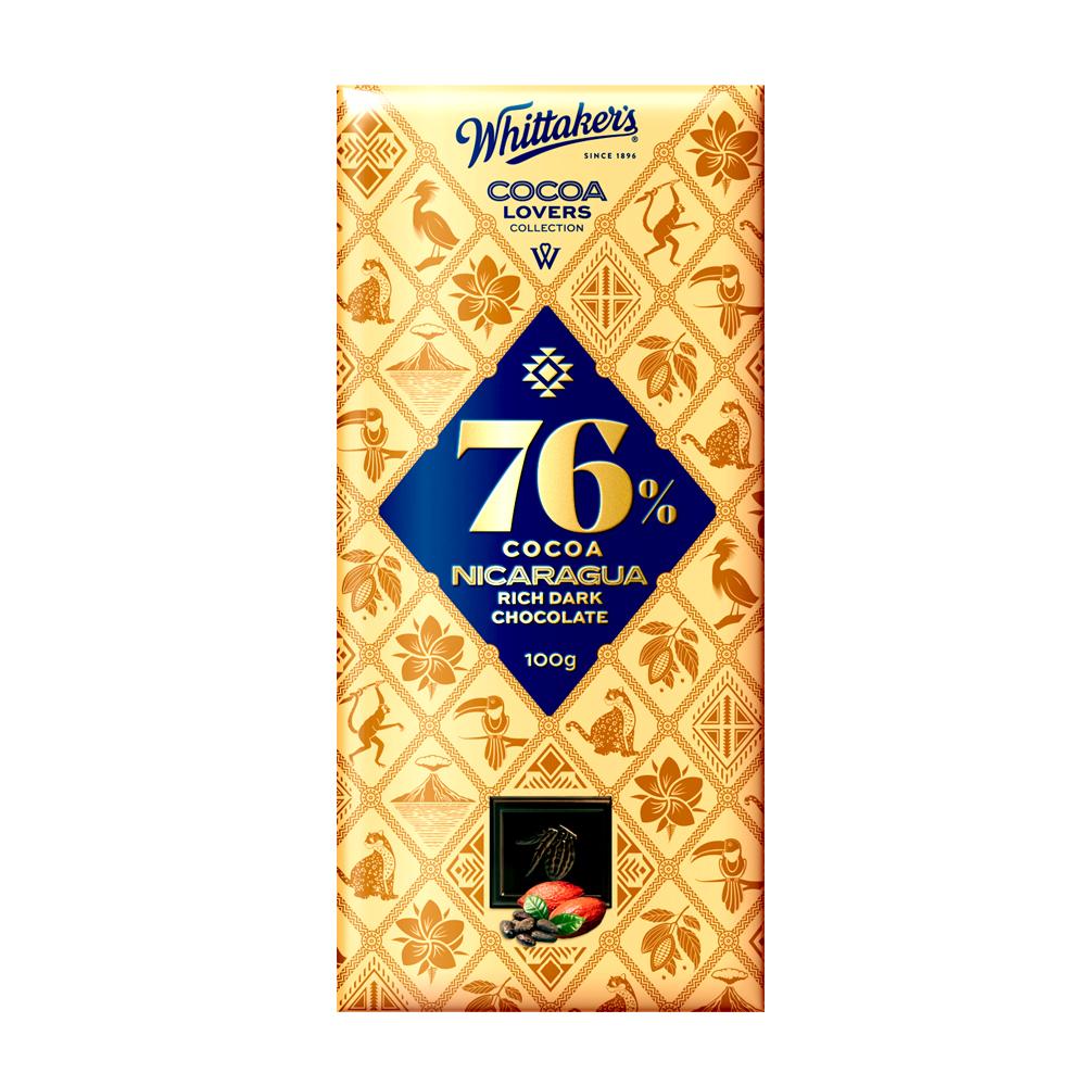 Whittakers 76% Cocoa Nicaragua Dark Choco