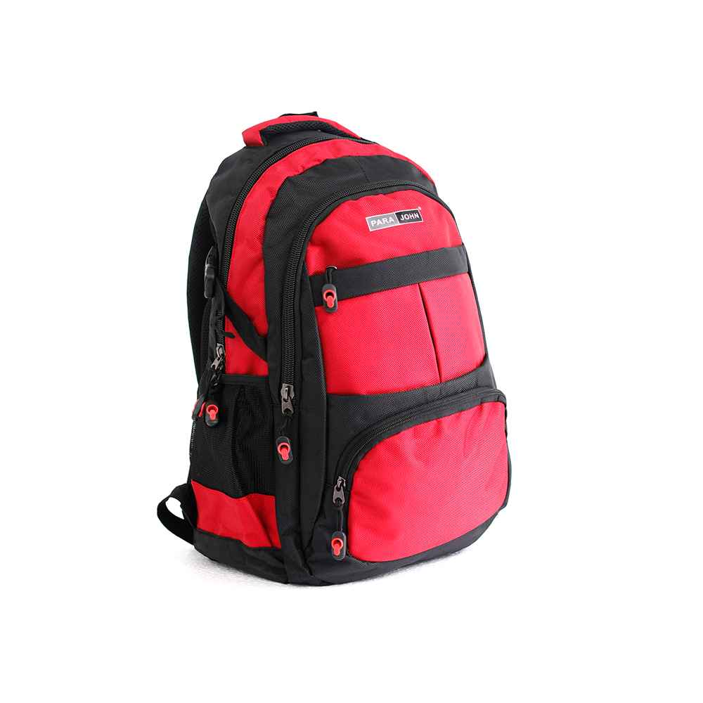 PARA JOHN Backpack for School, Travel & Work, 18''- PJSB6016A18-Red
