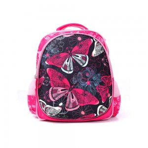 PARA JOHN Backpack for School, Travel & Work, 16''- PJSB6025A16-Pink with Butterfly design