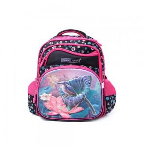 PARA JOHN Backpack for School, 16''- PJSB6025A16-Pink & Black