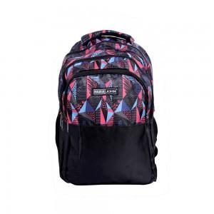 PARA JOHN Kids School Rucksack Bag, Backpack for School, 19 L- PJSB6054-Black & multicolour