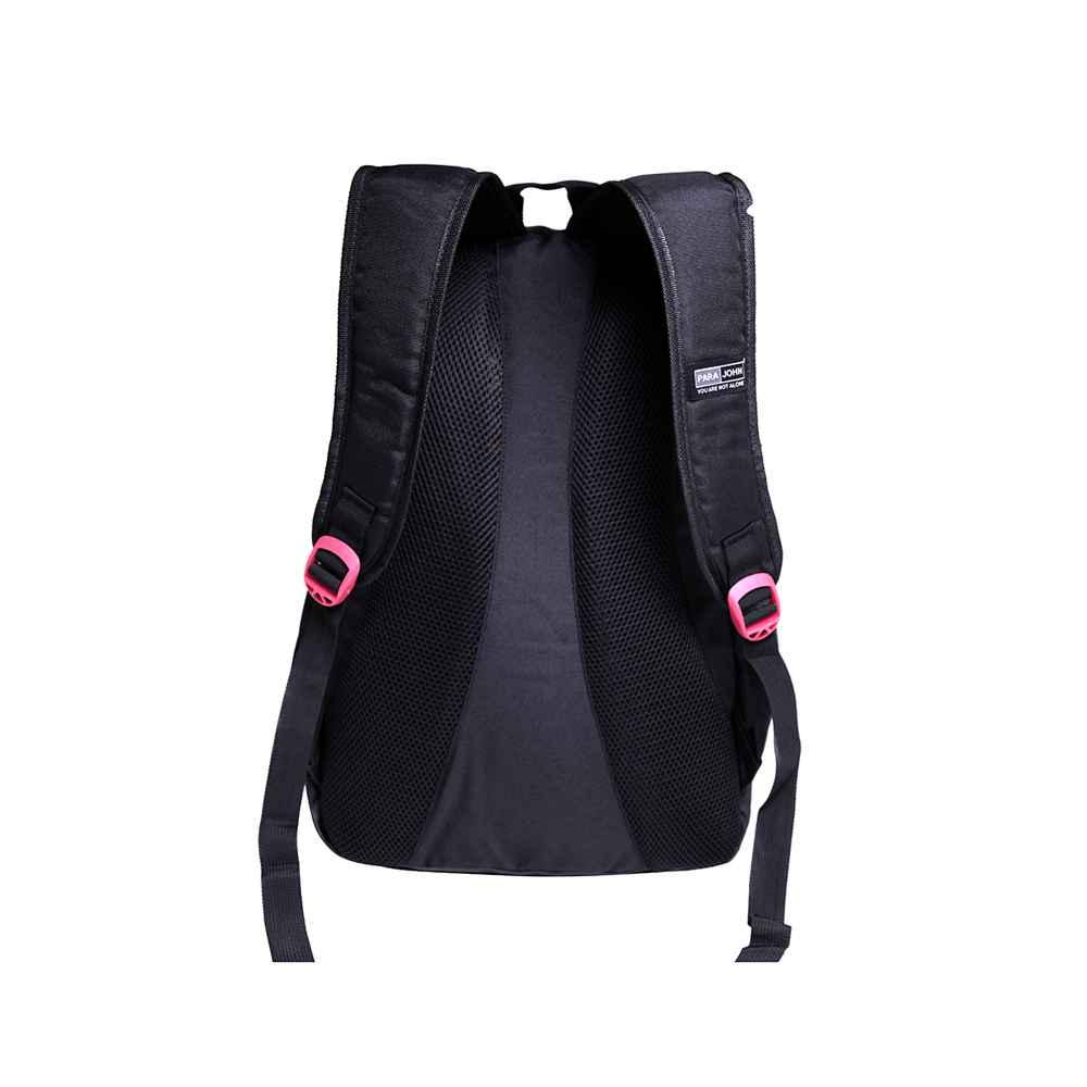 PARA JOHN Kids School Rucksack Bag, Backpack for School, 18 L- PJSB6052A18-Black