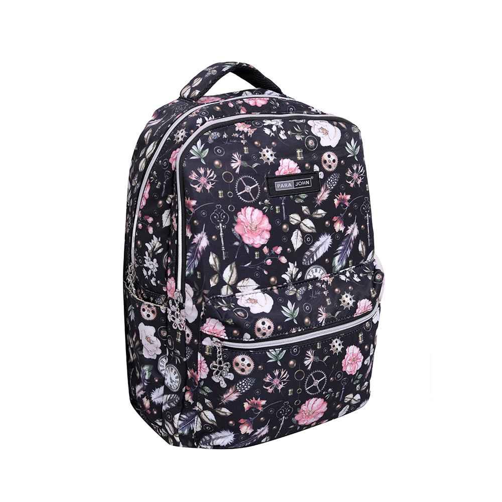 PARA JOHN School Bag, Backpack for School, 19L- PJSB6056-Black