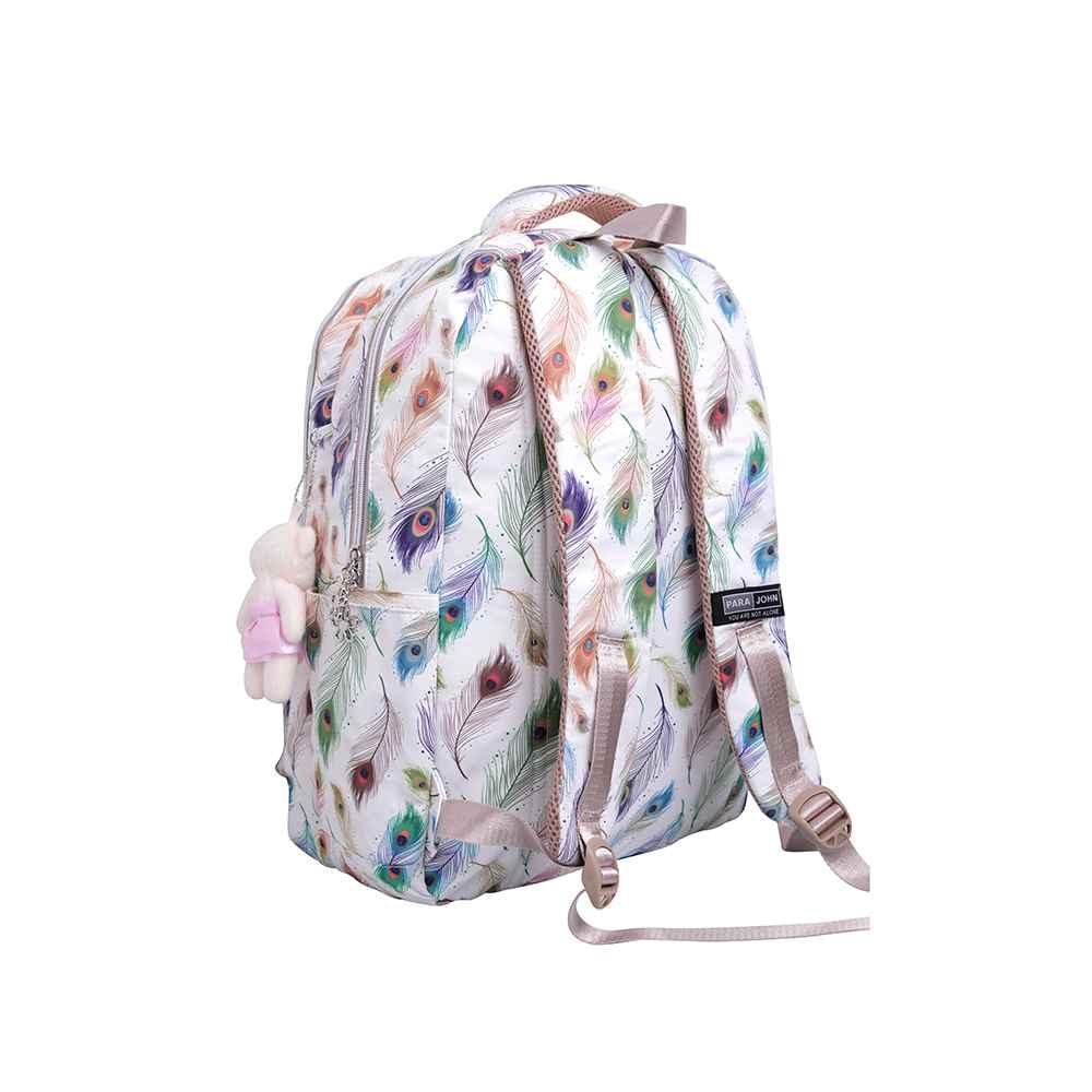 PARA JOHN School Bag, Backpack for School, 19L- PJSB6056-White