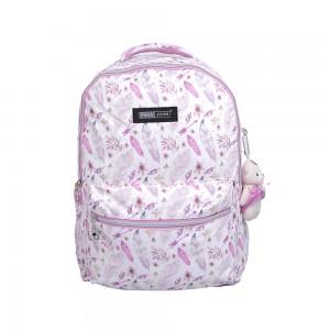 PARA JOHN School Bag, Backpack for School, 19L- PJSB6056-Pink