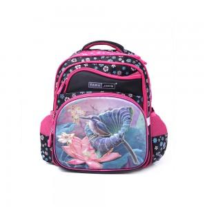 PARA JOHN Backpack for School, Travel & Work, 18''- PJSB6025A18-Pink & black