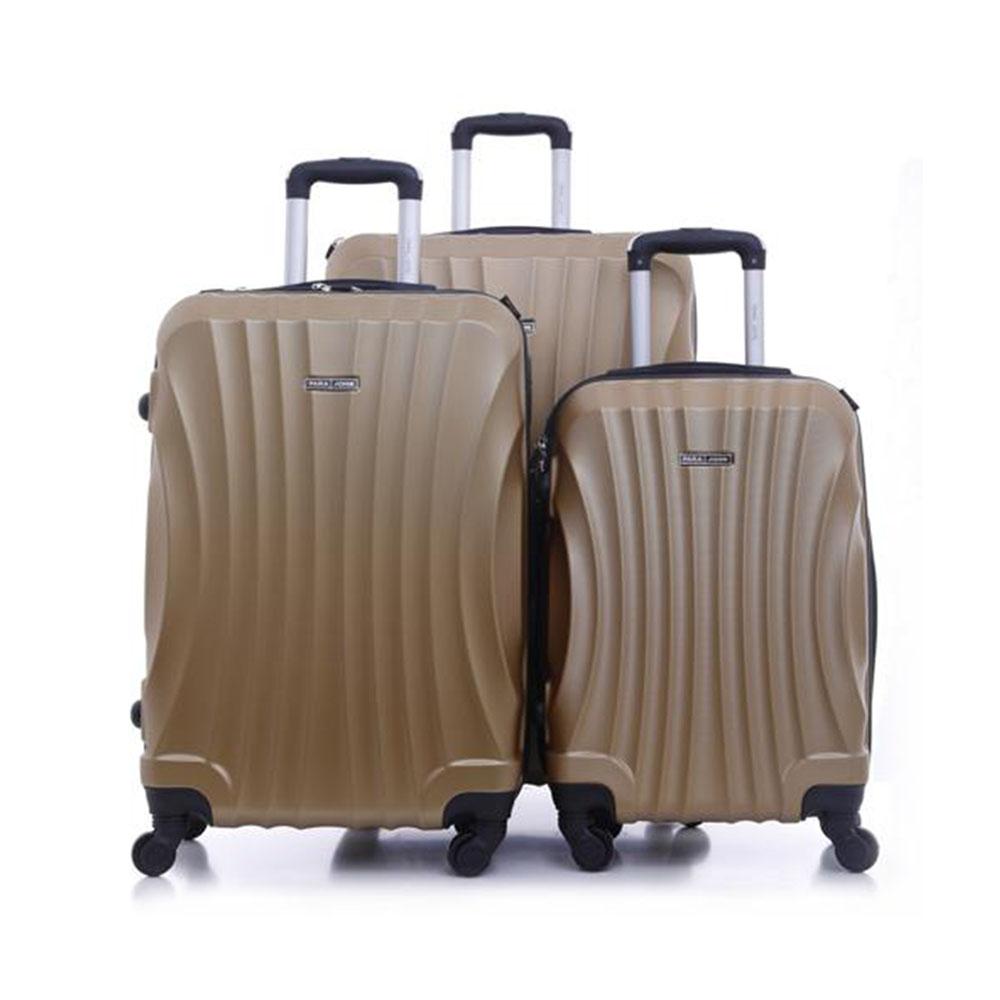 Parajohn PJTR3057 ABS Hard Trolley Luggage Set, Golden