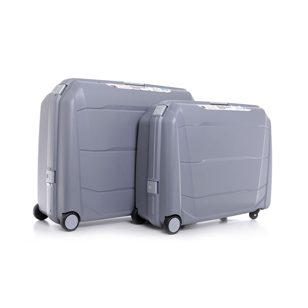 Parajohn Travel Luggage Suitcase Set of 2 - Cabin Size Roller Travel Suitcase - Grey
