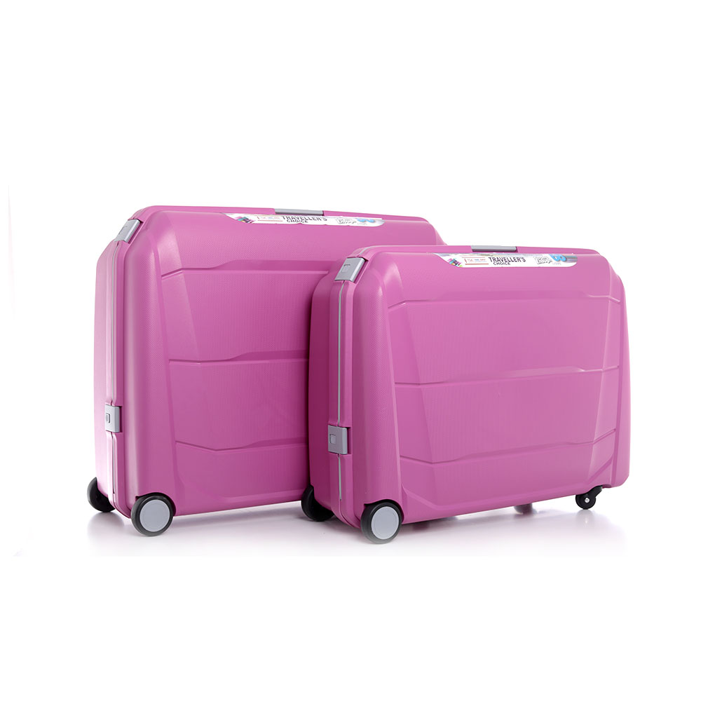 Parajohn Travel Luggage Suitcase Set of 2 - Cabin Size Roller Travel Suitcase - Pink