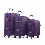 Parajohn PJTR3040 3 Pcs Trolley Luggage Set, Purple