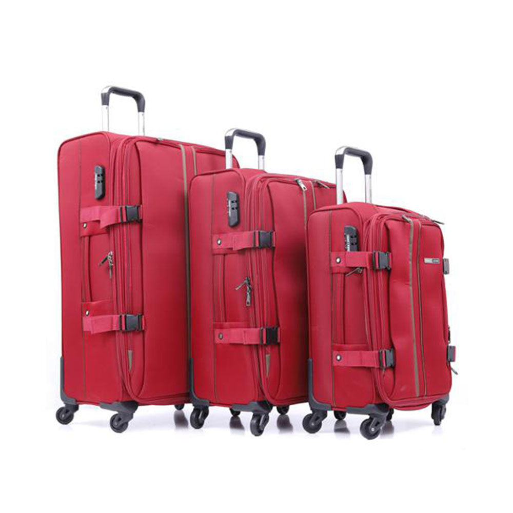 Parajohn PJTR3040 3 Pcs Trolley Luggage Set, Red