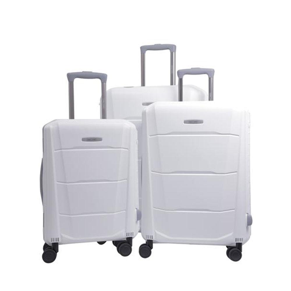 Parajohn PJTR3147 Campio 3 Pcs Trolley Luggage Set, White