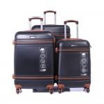Parajohn PJTR3042 ABS Hard Trolley Luggage Set, Black